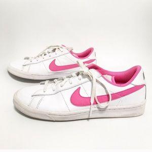 Nike. Hot pink! Cortez like sneakers.